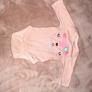 3-6 month onesie for a baby girl. Gently worn.